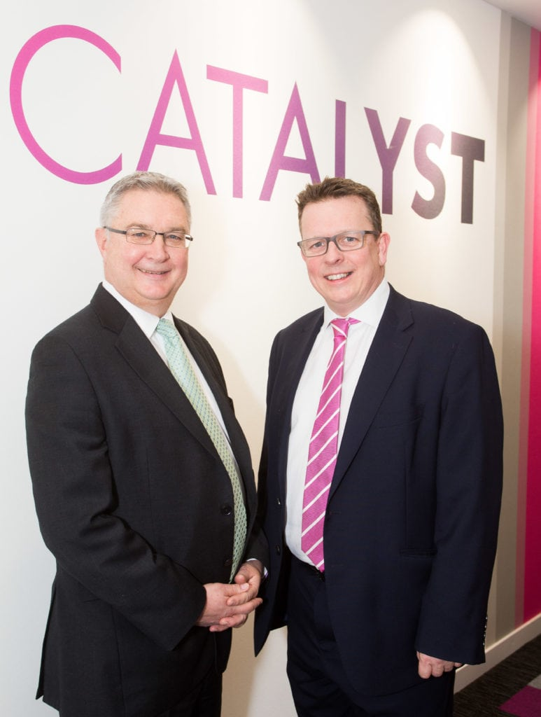 Picture of Catalyst CEO Andrew Middleton (left) with Knadel MD Paul Miller (right)
