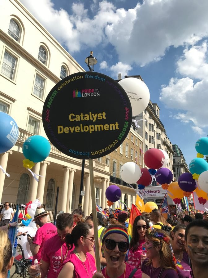 Picture of Catalyst at the London Pride parade 2018