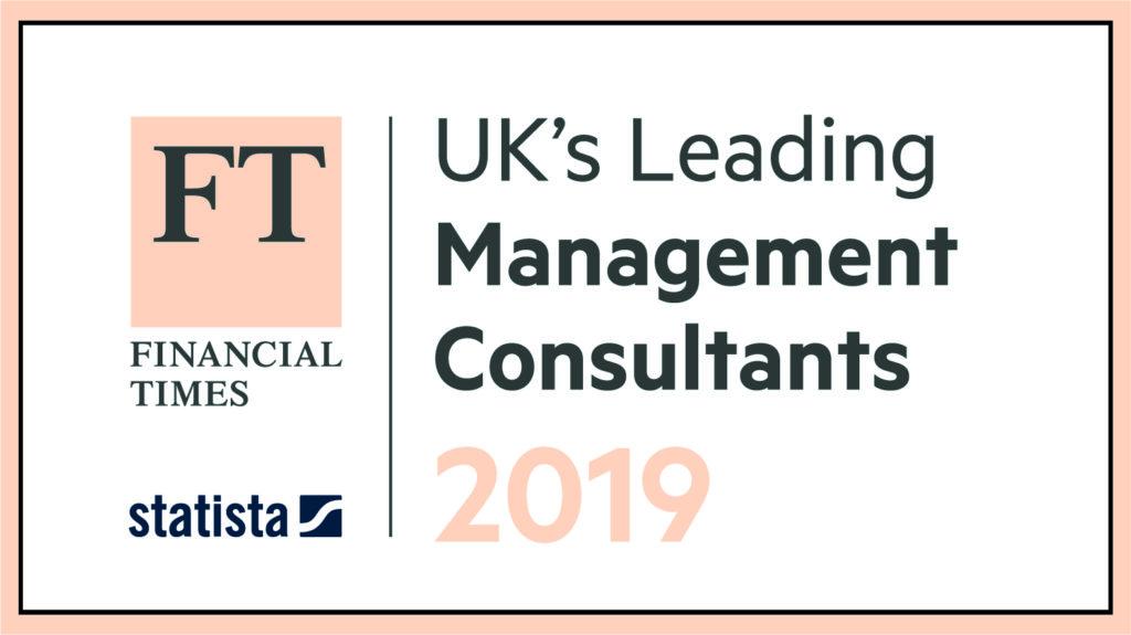 FT UK's Leading Management Consultants 2019 logo