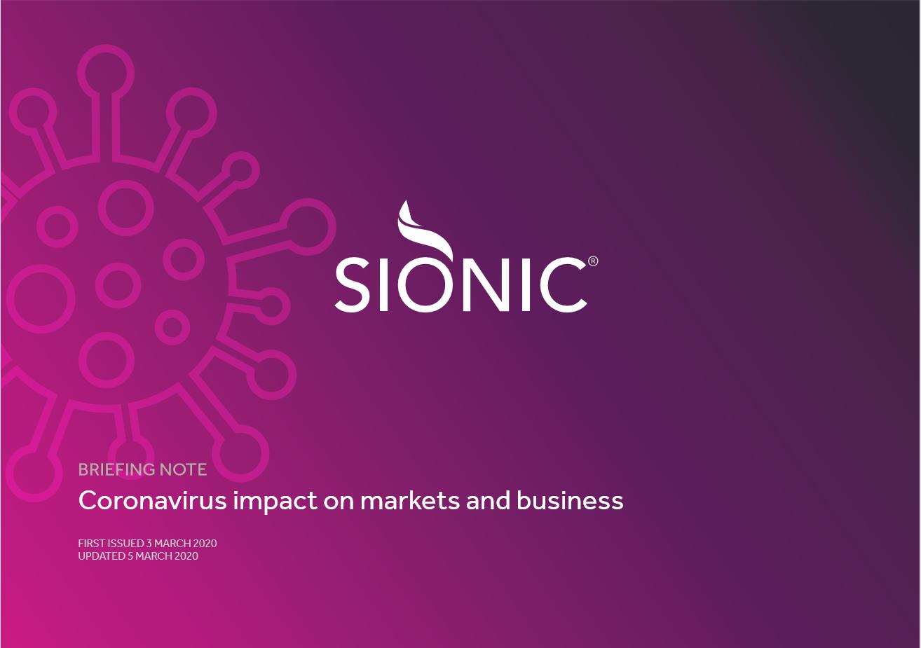Sionic Coronavirus briefing