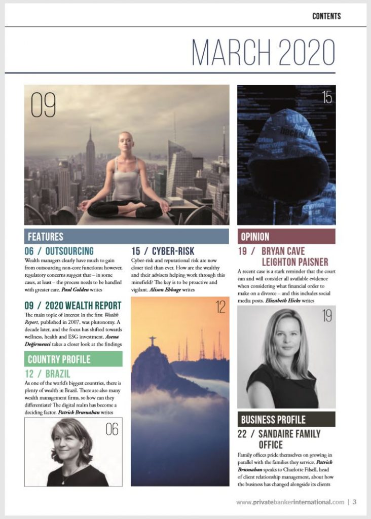 Sionic Managing Partner Gilly Green Features in Private Banker International March 2020