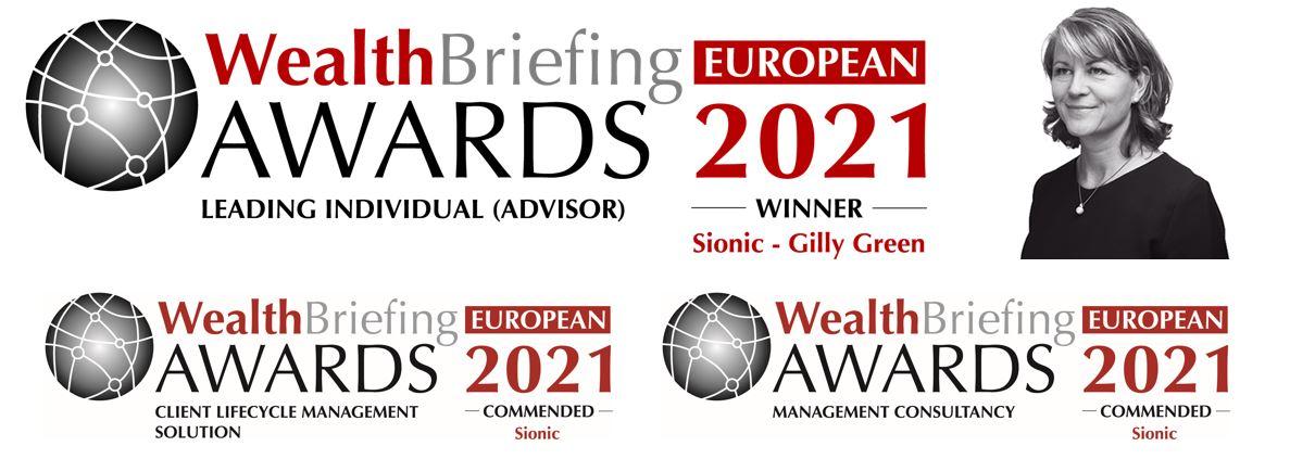 Gill Green WealthBriefing Awards logo